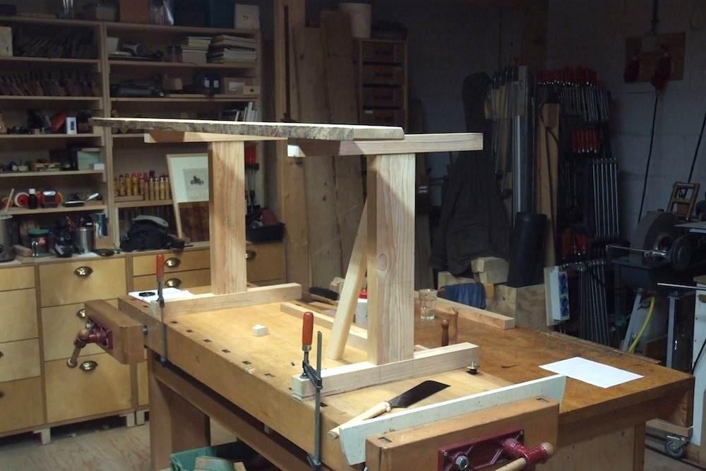 Bureau tafel gebruikt steigerhout simpel en puur